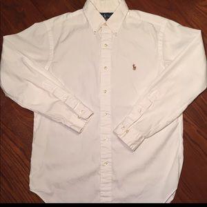 POLO Ralph Lauren Men Sz 15 M-L Oxford Dress Shirt